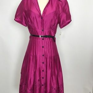 NWT Vintage Kay Unger dress w/cutouts &embroidery